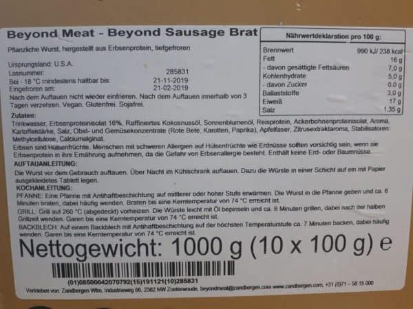 vegane Wurst Zutaten